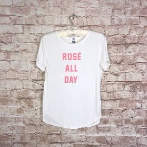 Old Navy Rose' All Day White T-Shirt Sz S